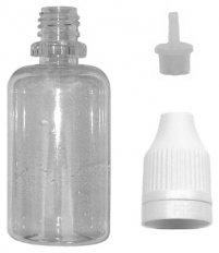 Empty Bottle 30 ml PET with Needle Dropper and Childproof Cap