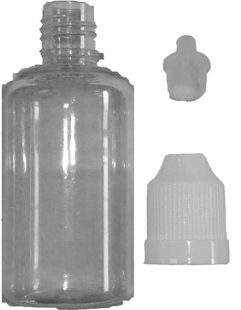 Empty Bottle 30 ml PET with Dropper and Childproof Cap